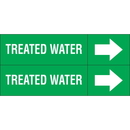 Weather-Code 38196 Weather-Code? Self-Adhesive Outdoor Pipe Markers - Treated Water