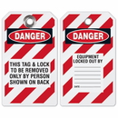 Seton 38654 Lockout Tag- This Tag & Lock To Be Removed Only By Person Shown On Back