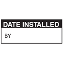 Seton 38709 Date Installed By Write On Labels