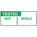 Seton 38765 Write On Labels - Tested Date Initials