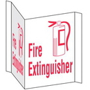 Seton 39435 Fire Extinguisher 3-Way View Fire Safety Signs
