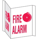 Seton 39437 3-Way View Fire Safety Signs - Fire Alarm