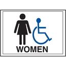 Seton 42364 Economy Front Office Signs - Women/Handicap