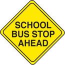 Seton 43139 School Safety Signs - School Bus Stop Ahead