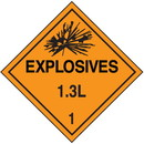 Seton 1.3L DOT Explosive Placards