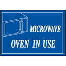 Seton 44242 Deluxe Housekeeping And Cafeteria Signs - Microwave Oven In Use
