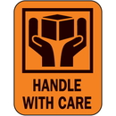Seton 44699 Handle With Care Fluorescent Handling Labels