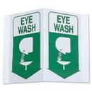 Seton 45780 3-Way View First Aid Safety Signs - Eye Wash