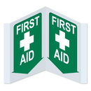 Seton 45781 3-Way View First Aid Signs - First Aid