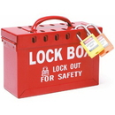 Seton 45823 Portable Metal Lock Box - Red (65699) by Brady