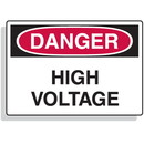 Seton Extra Large OSHA Signs - Danger - High Voltage