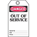 Seton 46576 Self-Laminating Tags - Danger Out Of Service