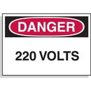 Seton 46999 Hazard Warning Labels - Danger 220 Volts