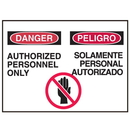 Seton 47928 Bilingual Graphic Safety Signs - Danger/Peligro
