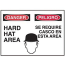 Seton 50318 Bilingual Graphic Signs - Danger Hard Hat Area