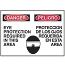 Seton 50495 Bilingual Graphic Signs - Danger Eye Protection Required