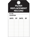 Seton 50658 Equipment Inspection Tags - Filter Replacement Record