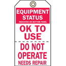 Seton 50680 2-Part Production Status Tags - Equipment Status