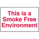 Seton 50987 This Is A Smoke Free Environment Signs - Aluminum, Plastic or Vinyl