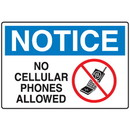Seton Cell Phone Notice Signs - No Cellular Phones Allowed