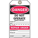 Seton 51527 2-Part Production Status Tags - Repair Order
