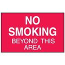 Seton 52088 No Smoking Beyond This Area Signs - Aluminum, Plastic or Vinyl