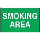 Seton 52248 Smoking Area Signs - Aluminum, Plastic or Vinyl