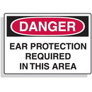Seton Extra Large OSHA Signs - Danger - Ear Protection Required