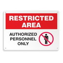 Seton Restricted Area Signs - Authorized Employees Only