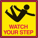 Seton 54509 Safety Traffic Cone Signs - Watch Your Step