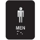 Seton 55325 Outdoor Aluminum Braille ADA Signs - Men