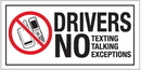 Seton 5547B Drivers No Texting, NoTalking, No Exceptions Labels