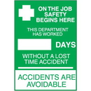 """Seton 55741 Safety """"Accident Free"""" Signs"""