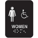 Seton 56366 Outdoor Aluminum Braille ADA Signs - Women