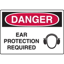 Seton 56373 Harsh Condition OSHA Signs - Danger - Ear Protection Required