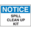 Seton 56728 OSHA Notice Signs - Notice Spill Clean Up Kit
