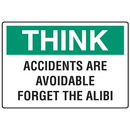 Seton 56852 OSHA Informational Signs - Think Accidents Are Avoidable