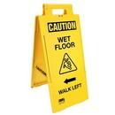 Seton 57037 Cortina Lockin'arm Floor Stand Signs - Caution Wet Floor Walk Left 03-600-35