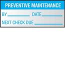Seton 57441 Preventative Maintenance Write On Self Debossing Labels