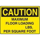 Seton Caution Maximum Floor  Loading Capacity Signs