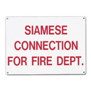 Seton 58530 Siamese Connection For Fire Dept. Aluminum Sprinkler Control Sign