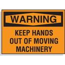 Seton 58604 Hazard Warning Labels - Warning Keep Hands Out Of Moving Machinery