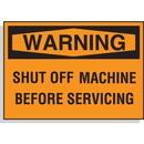 Seton 58611 Hazard Warning Labels - Warning Shut Off Machine Before Servicing