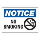 Seton 58620 Hazard Warning Labels - Notice No Smoking (With Graphic)