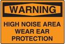 Seton 58788 OSHA Warning Signs - Warning High Noise Area Wear Ear Protection