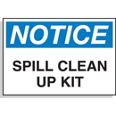 Seton 59246 Hazard Warning Labels - Notice Spill Clean Up Kit