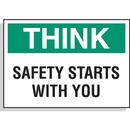 Seton 59251 Hazard Warning Labels - Think Safety Starts With You