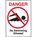 Seton 59395 Water Safety Signs - Danger - No Swimming Allowed