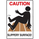 Seton 59397 Water Safety Signs - Caution - Slippery Surface