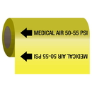 Seton 62189 Gas Self-Adhesive Pipe Markers-On-A-Roll - Air 50-55 psi